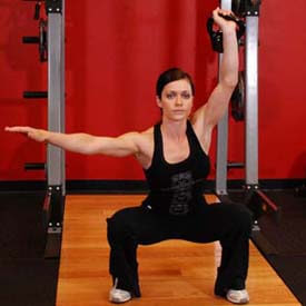 single arm kettlebell overheadsquat