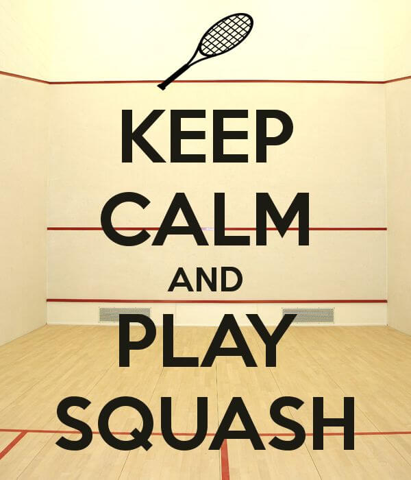 Have you thought about playing competition squash?